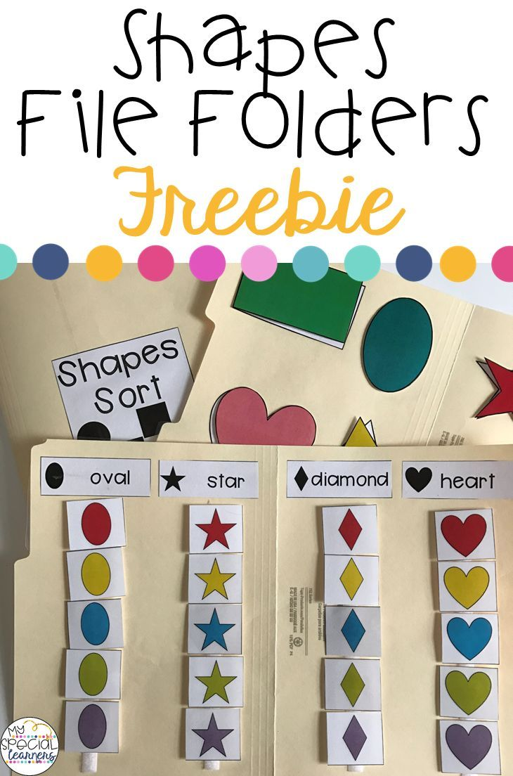 Grab these FREE file folders to practice shape matching ...
