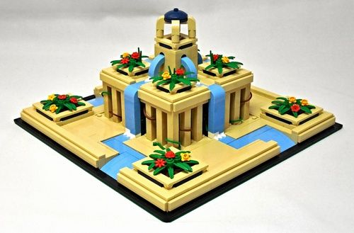 Lego Mocs Micro ~ MA 2016: Hanging Gardens: A LEGO® creation by P. Andrei