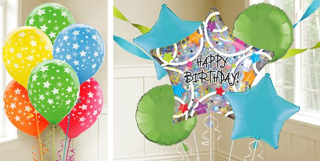 Birthdays Holographic Star Birthday Balloons