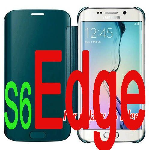 S6 / S6Edge Case Cover Luxury Clear UV View Mirror Book Flip Phone Cases For Samsung Galaxy S6 Edge / S6 Case Protective Shell