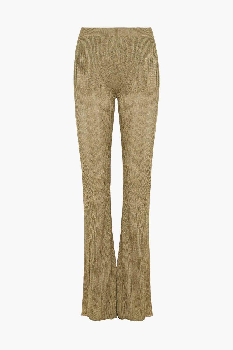 Desert Dream Aud320 Gold High Waisted Flared Pants Sass Bide Fall Spring 2016 Amante Amore High Waisted Flares Desert Dream Flare Pants