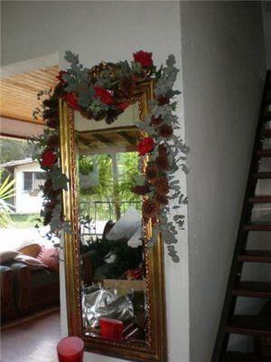 Espejos decorados para navidad buscar con google for Imagenes de espejos decorados