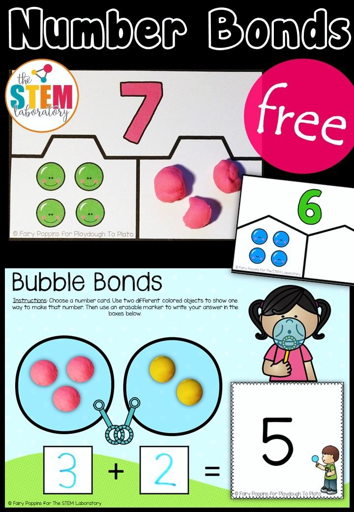 Hands-On Number Bond Activities | Hands on Math Activities by Malia ...