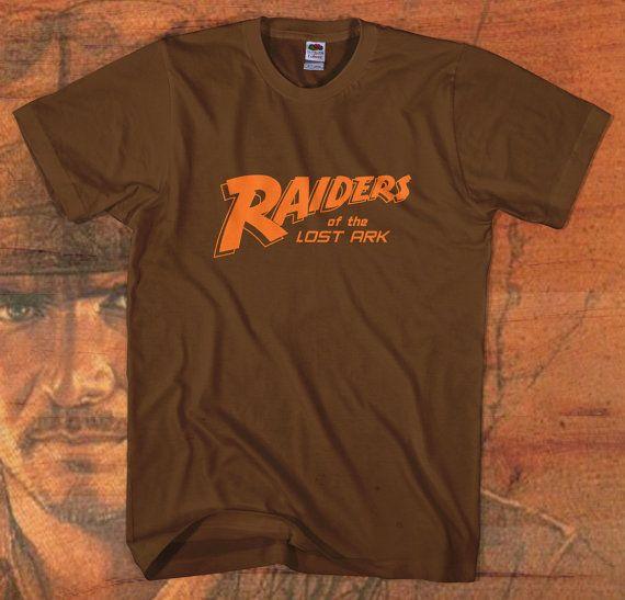 indiana jones tshirt retro logo new tee raiders lost