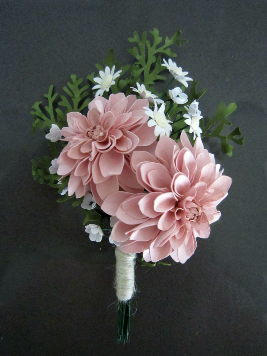 Paper Boom Boom Dahlia Boutonniere Rosy Paper Posies Paper