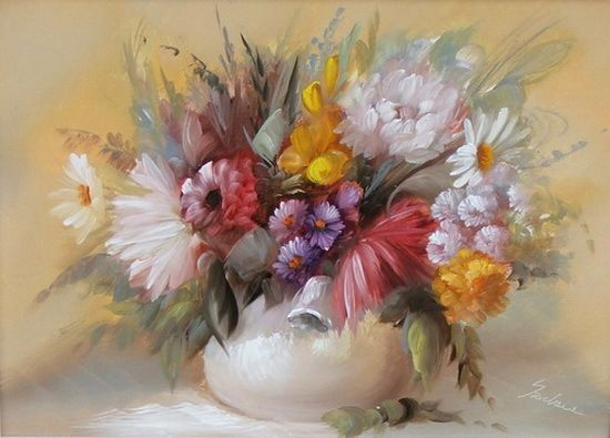 Цветы от венгерской художницы Шекэни Шидония (Széchenyi Szidónia)