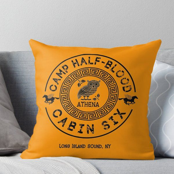 Cabin Six - Athena - Percy Jackson - Camp Half-Blood -  Throw Pillow images