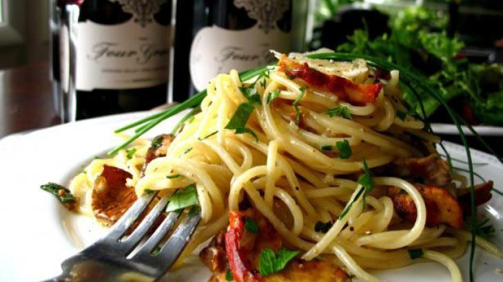 Truffled Wild Mushroom Spaghetti