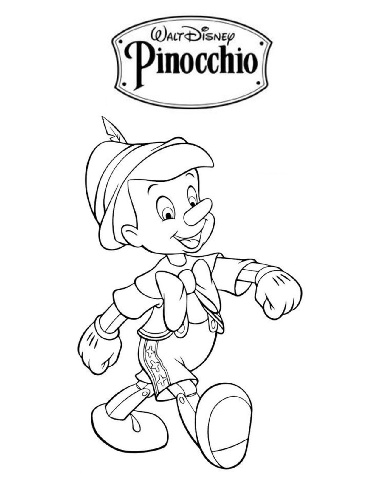 Pinocchio Disney coloring pages, Coloring books