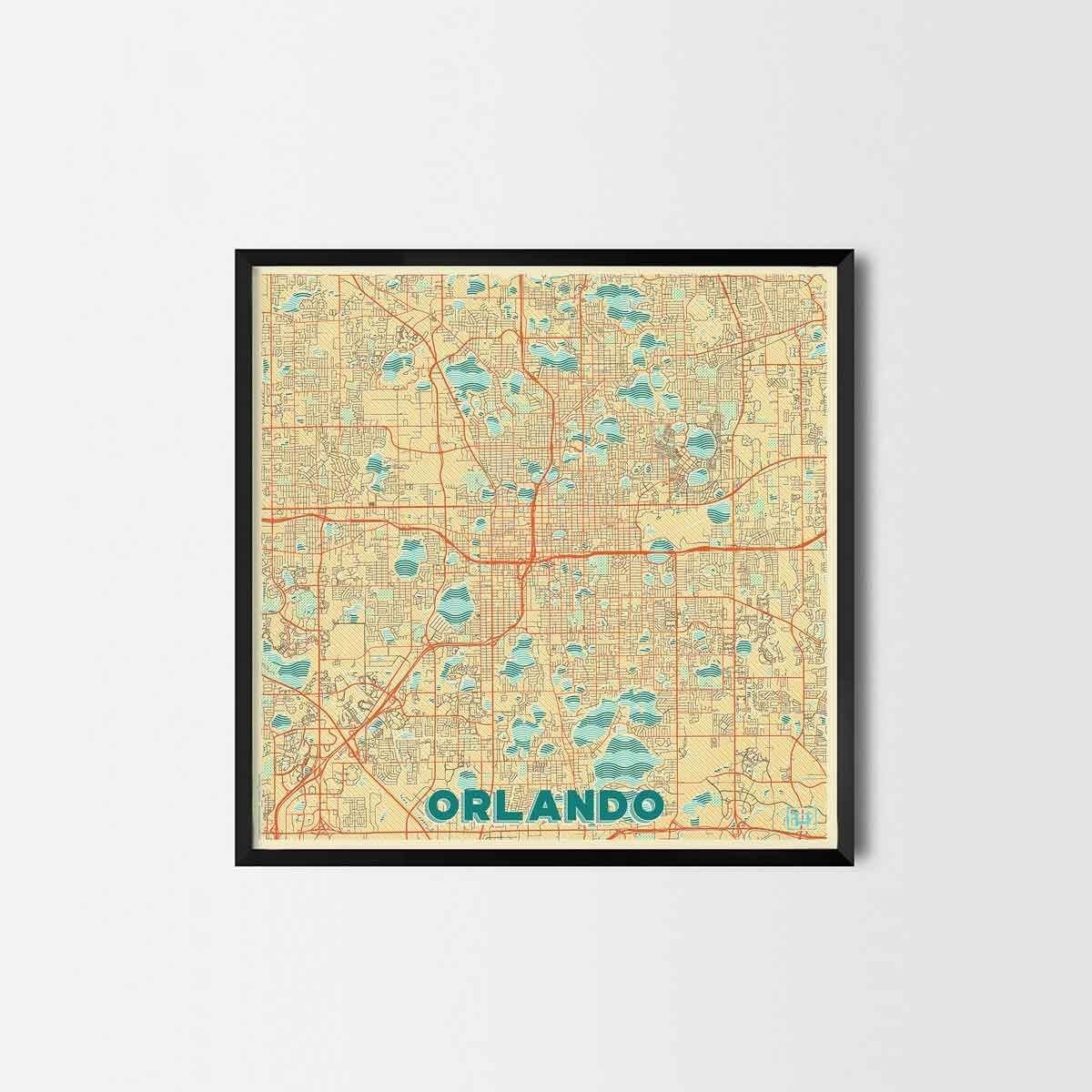 Orlando City Prints - City Art Posters and Map Prints | Art posters ...