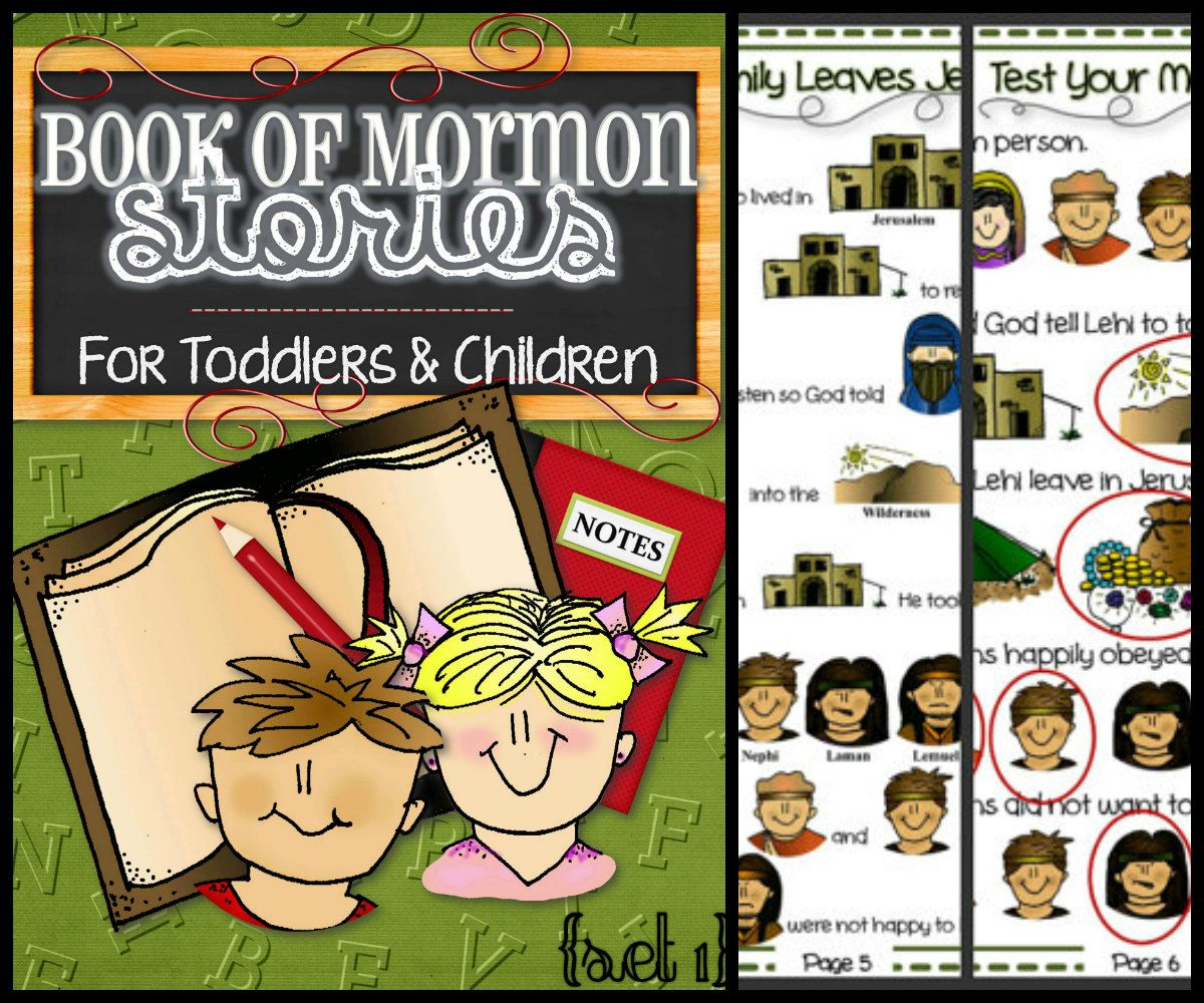 Set 1 of Book of Mormon Stories For Toddlers and by TimeSavors, $6.99