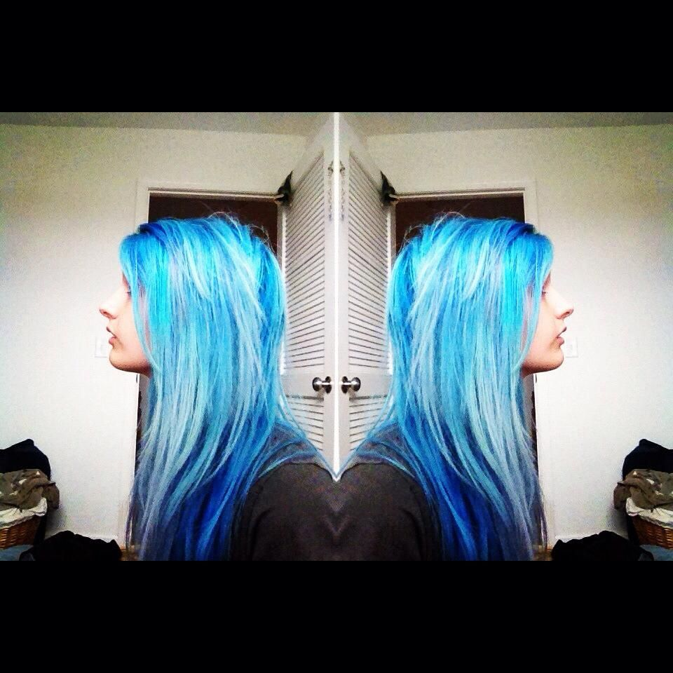 Manic Panic Bad Boy Blue Mixed With Atomic Turquoise Hair Designs Hair Inspiration Hair Styles