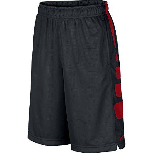 Boy's Nike Elite Stripe Basketball Shorts Black/University Red Size Large
