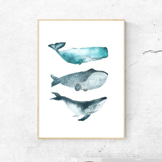 whales printable digital printable printable whale nursery decor watercolor whale printable