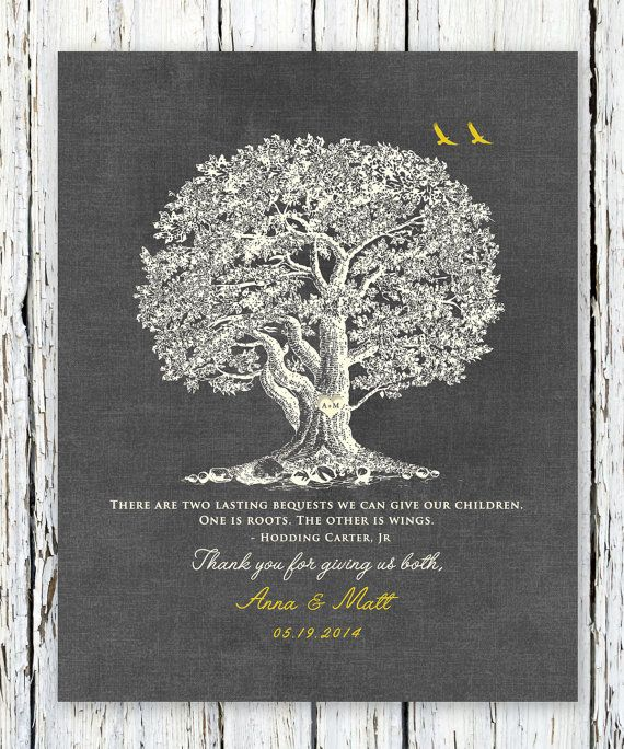 ROOTS and WINGS POEM, Hodding Carter Jr., Thank You Wedding Gift for ...