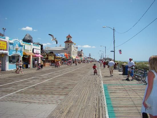 Jersey Shore Boardwalk Ocean City Boardwalk Ocean City Ocean City Nj