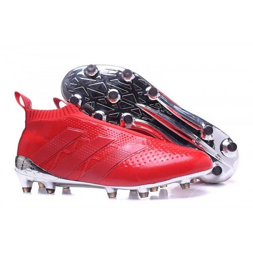 new concept ba2e9 7594f 2016 Adidas ACE 16+ Purecontrol FG AG Soccer Cleats Red Silver