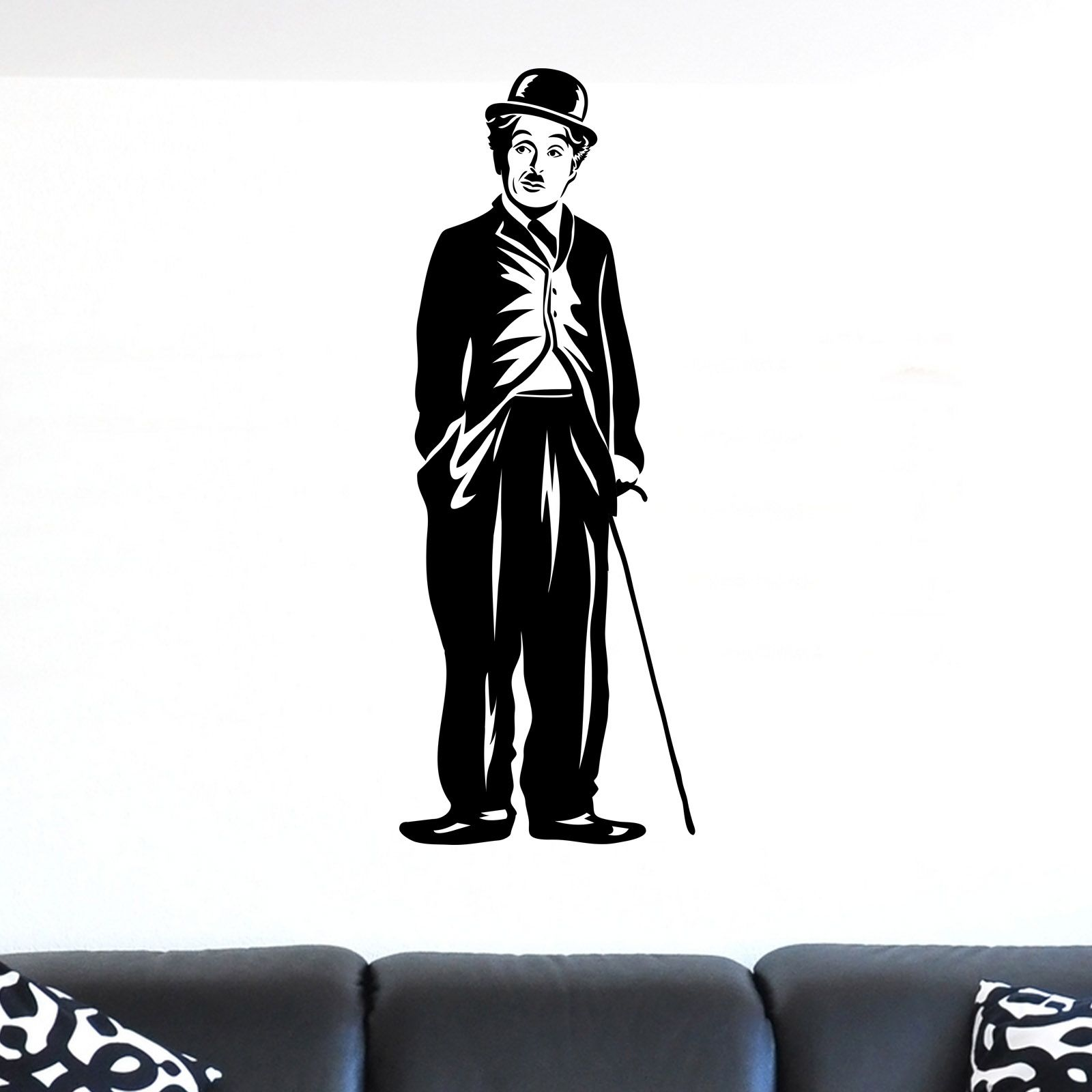 Cool charlie chaplin stood with cane wall sticker icons celebrity cool charlie chaplin stood with cane wall sticker amipublicfo Image collections
