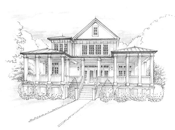 Architectural Line Drawings By T Soup Design Studio
