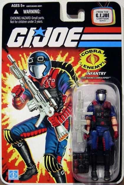 Joe Cobra 25th Anniversary MOC Foil Cobra Viper Infantry 2008 G.I