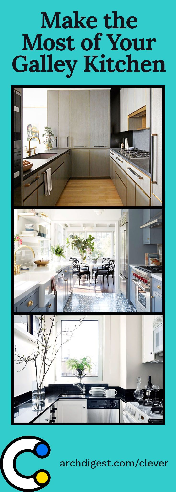 Small Galley Kitchen Ideas Design Inspiration: How To Make The Most Of Your Galley Kitchen In 2019
