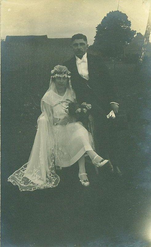 Vintage 1926 German Wedding Photo Husband Wife by ...