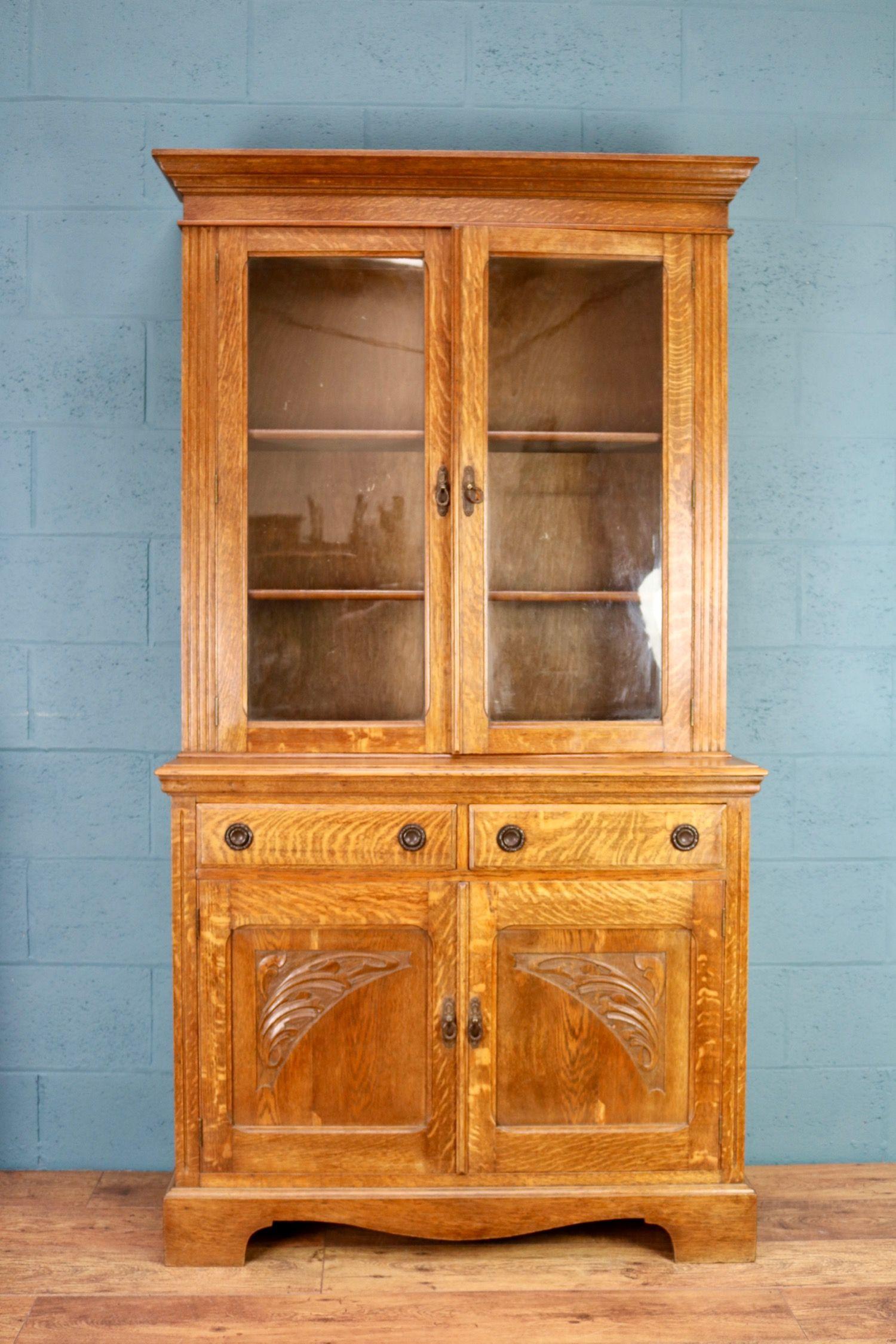 Oak Glazed Bookcase Iii