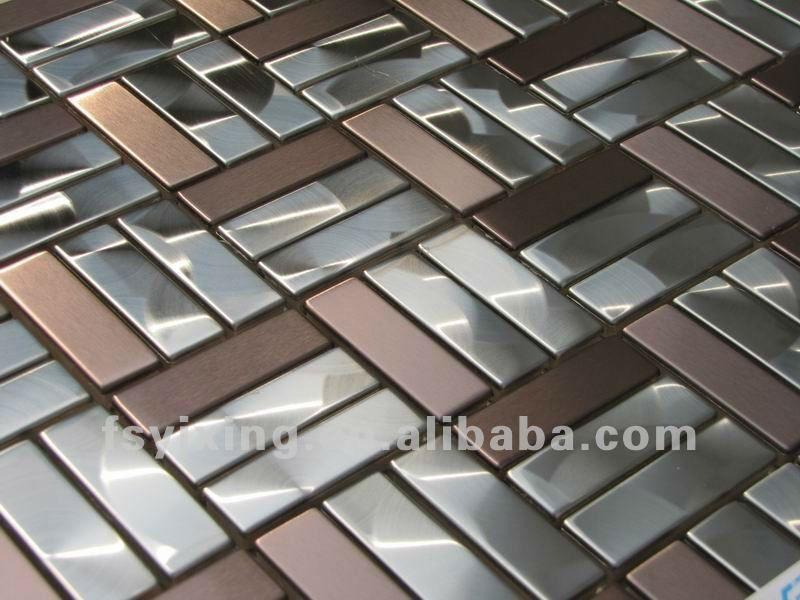 Billige Edelstahl Ziegel Spiegel Metall Mosaik Fliesen Handwerk ...