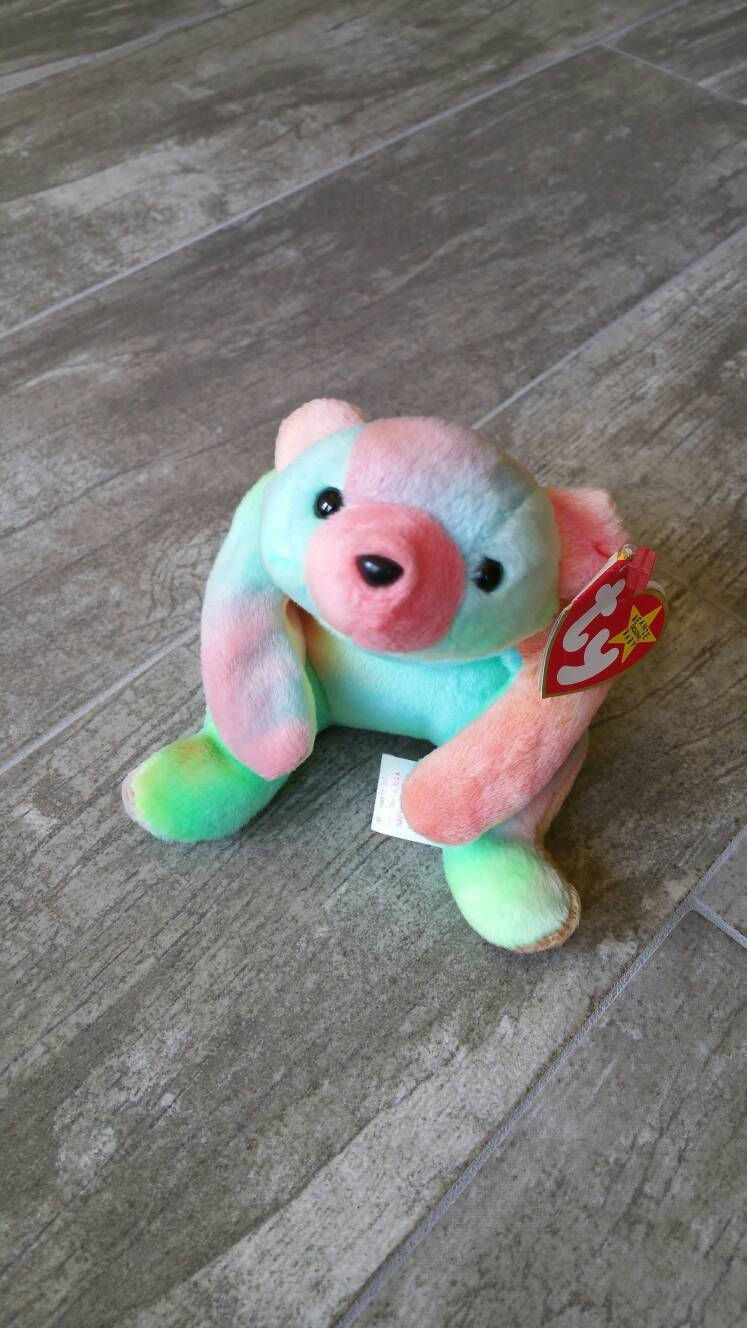 Sammy Tie Dyed Bear Rare Collectible Vintage Original Ty Beanie Baby Tag ERRORS  Guys Girls Boys cacfedf83e51