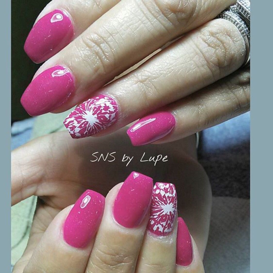 Full set SNS nails with design ! | Skin care | Pinterest | Sns nails ...