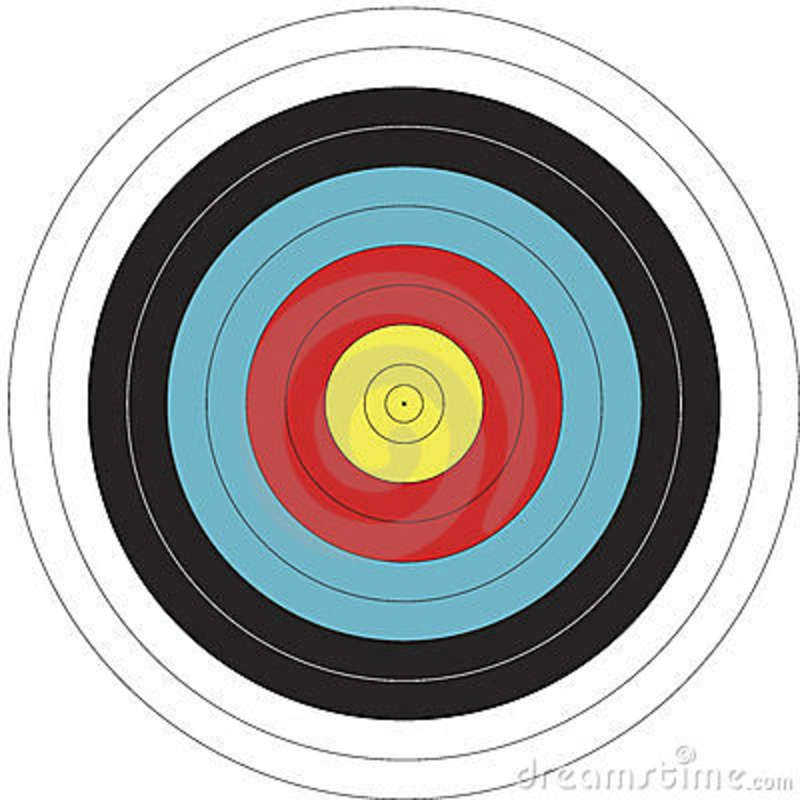 It's just a picture of Clean Printable Bullseye Target