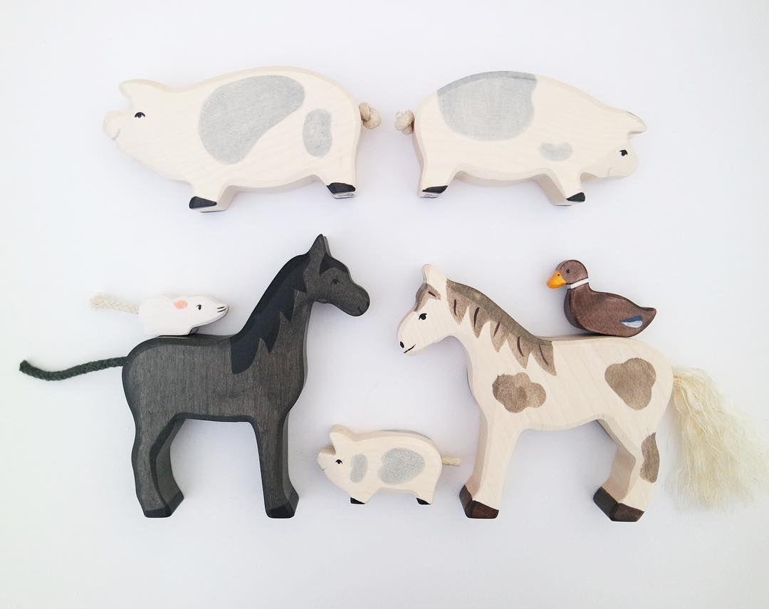 Hier sind nun die #holztiger Neuheiten vom Freitag: Pferde, Schweine und hübsche…