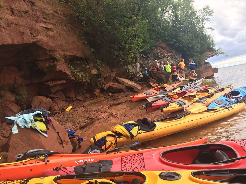 Break time on our Apostle Islands Women's Kayaking Trip!