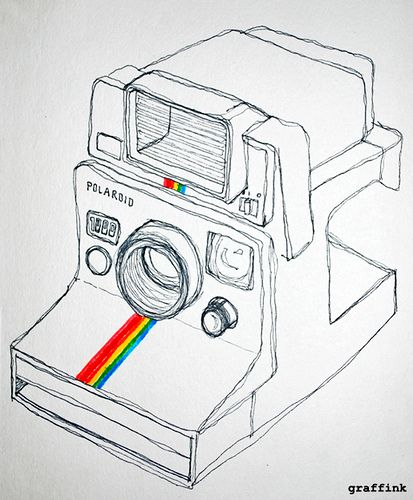 Polaroid Doodle Vintage CamerasDoodle