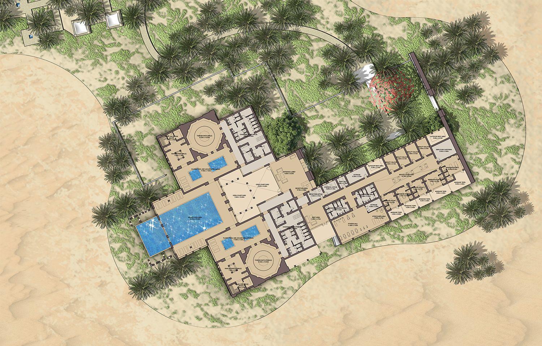 Bead Wathba Resort Hospitality Plan2 Jpg Desert Resort Resort Plan Resort Architecture