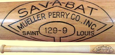 In 1959 Sav A Bat Became A Trademark For The Mueller Perry Co Inc The Company Filed For A Patent In 1960 For A Reinforcement That Bat Baseball Bat Wood Bat