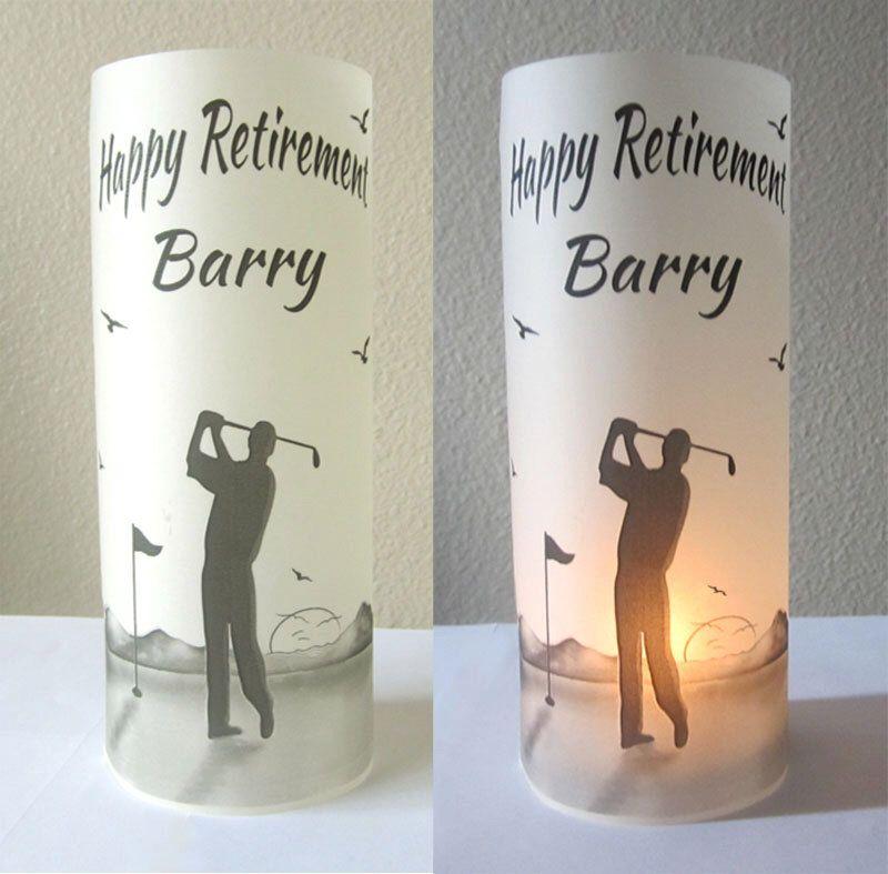 12 personalized retirement birthday golf luminaries centerpiece table decoration