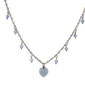 Heart Necklace Made with SWAROVSKI ELEMENTS Crystals Blue Opal Heart and Drops Sterling Silver AzureBella Jewelry. $24.04. Jewelry gift box included. Adjustable length. Made with genuine SWAROVSKI ELEMENTS crystals. Made in the USA. .925 sterling silver