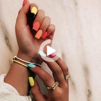 50 Spectacular Long Acrylic Nails - Long Acrylic Nail Art | NailShapes