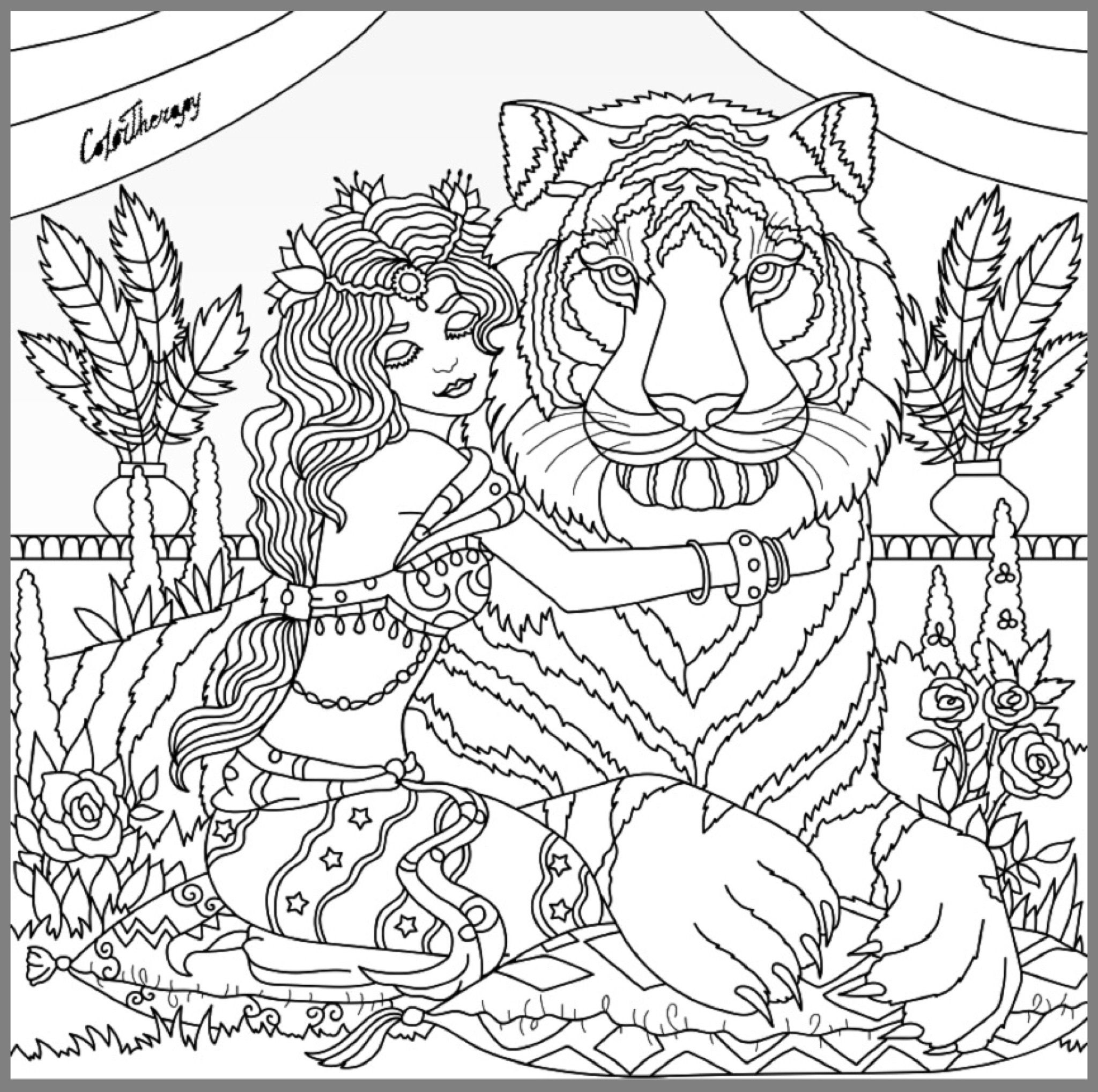 King of the Jungle coloring page | Coloring Pages for Adults ...