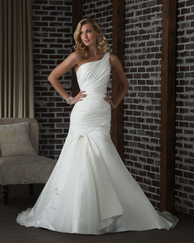 Bonny classic bridal gown style 313 flattering wedding