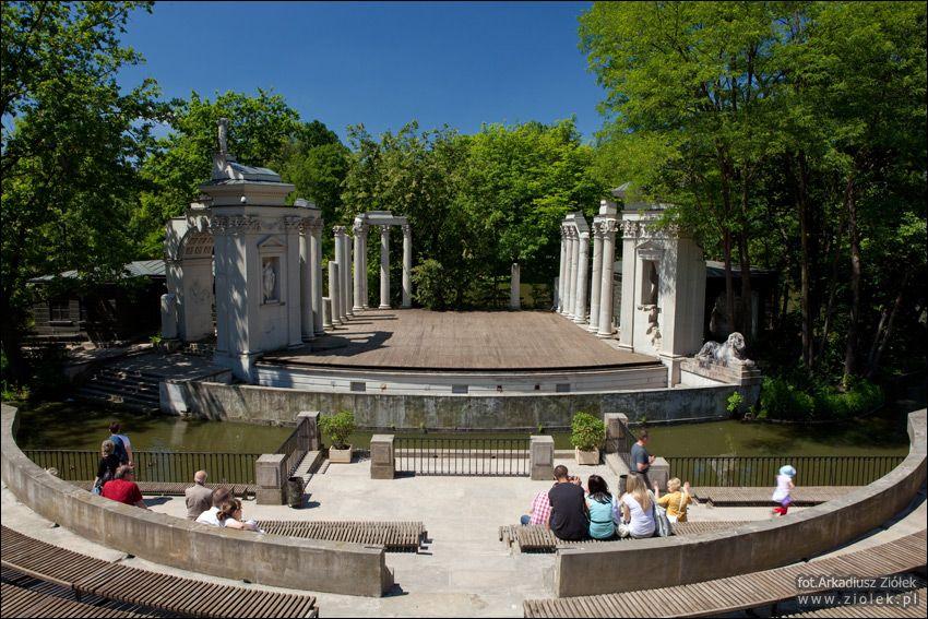 Teatr Na Wyspie łazienki Królewskie Amfiteatr Europe