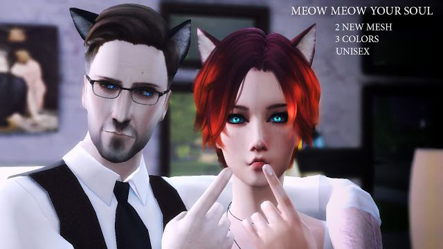 Sims 4 CC's - The Best: Cat Ears by Absconde | Sims | Sims 4, Sims 4