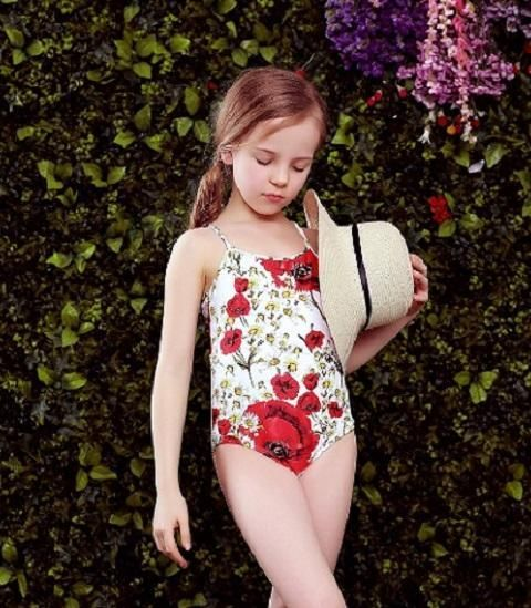 a2b642ca77d Baby Swimwear Bikini 2017 Summer One Piece Swimsuit Floral Printed Girls  Children Swim Wear Toddler Bathing Suit Kids Bikini