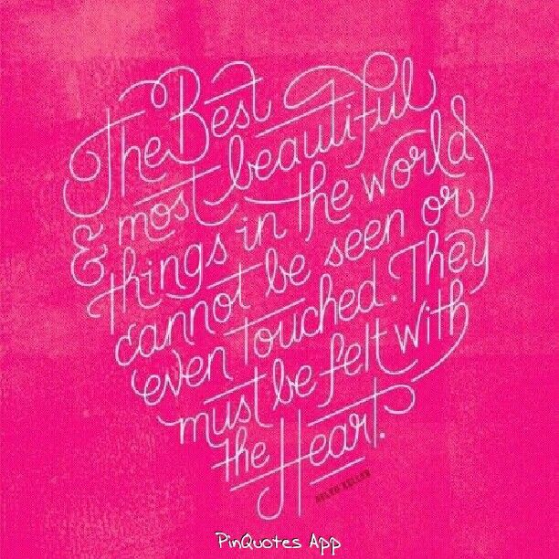 The best & most beautiful things...