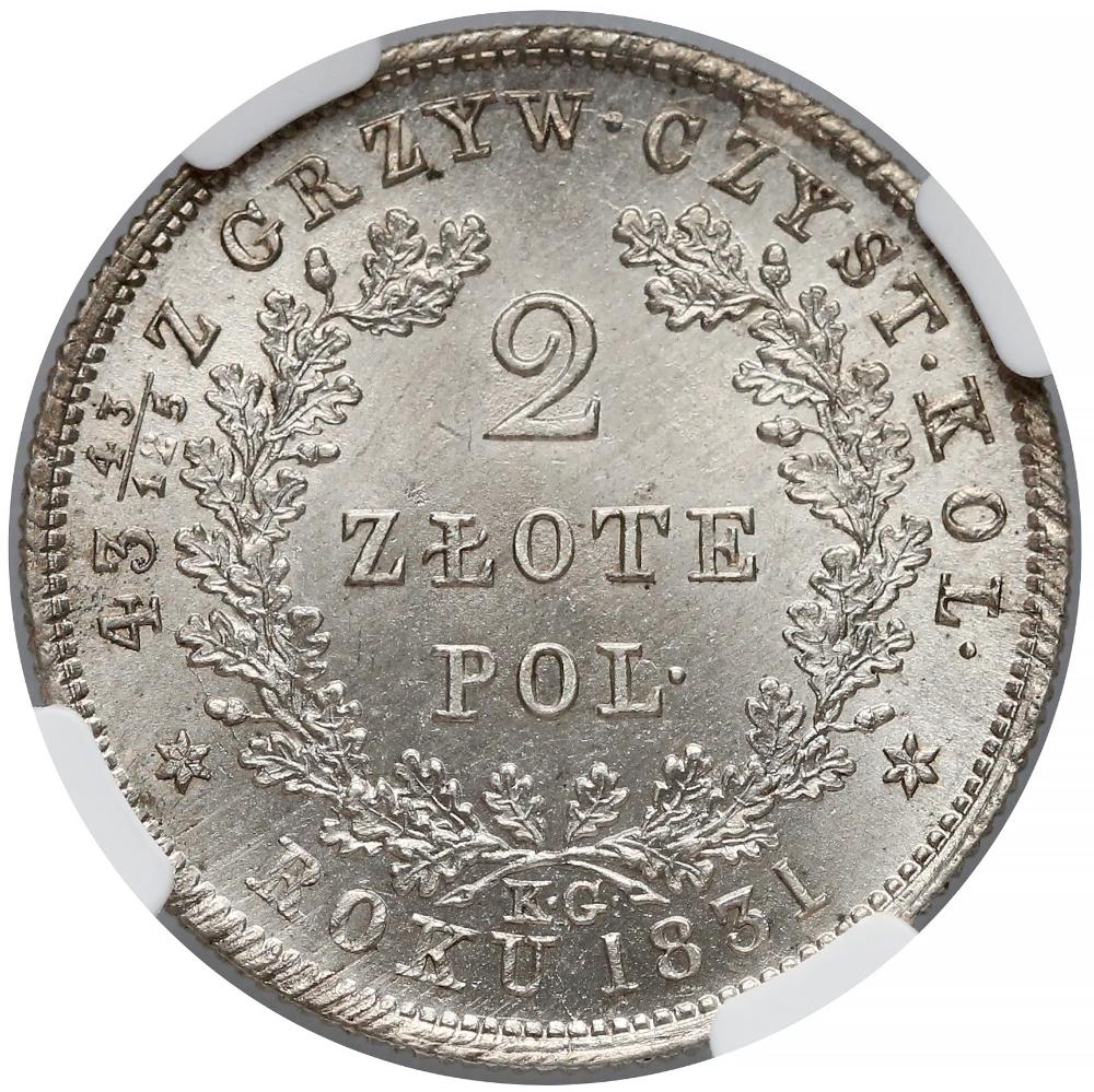 Powstanie Listopadowe 2 Zlote 1831 Kg Ngc Ms66 Archiwum Gabinetu Numizmatycznego D Marciniak Poland History Polish Coin Coins