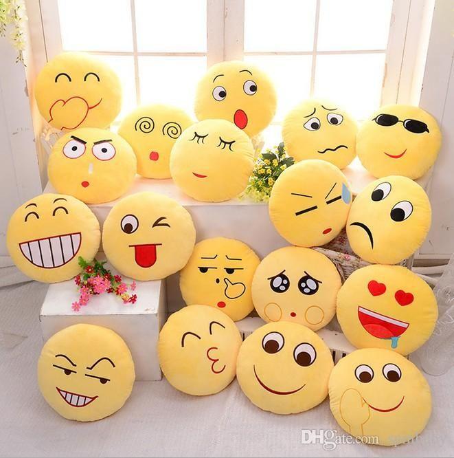 10 Styles Cartoon Emoji Pillow Soft Smiley Emoticon Pillows Kids Children Stuffed Plush Toy Halloween Christmas Xmas Gift C Emoji Pillows Cute Emoji Plush Sofa