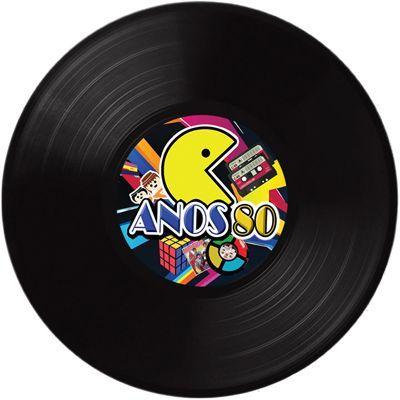 Disco de Vinil Anos 80 para Decoração de Parede