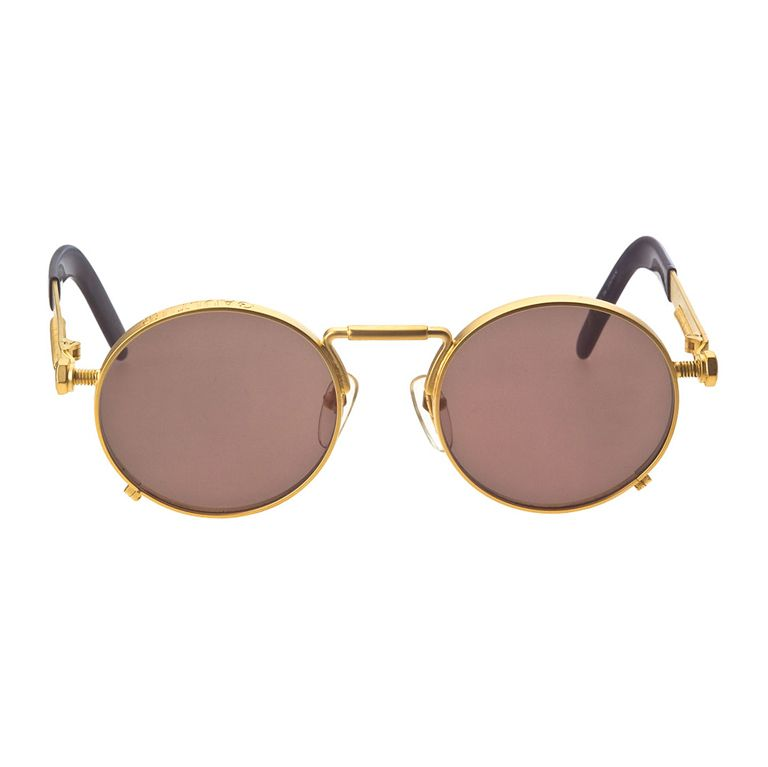 98e5266483465 Jean Paul Gaultier 56-8171 Gold Sunglasses