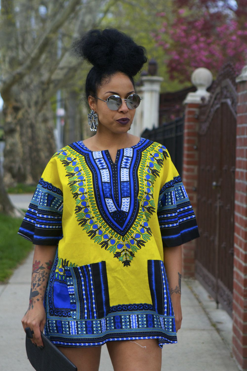 Unisex Dashiki Yellow African Shirt by tribalgroove on ...